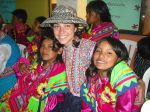 Volunteer with Peruvian girls